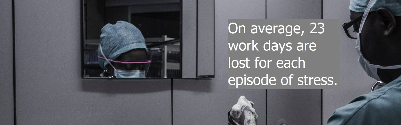23 work days lost for each stress episode